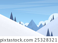 Winter Mountain Forest Landscape Background, Pine 25328321