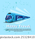 Happy Travel Banner Modern Train Transportation 25328410