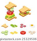 Isometric sandwich and hamburger constructor  25329506
