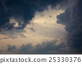 Dramatic Cloudscape Background. Toned Photo. 25330376