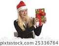 christmas, female, present 25336764