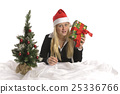 cheerful, christmas tree, surprise 25336766