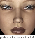 face, female, woman 25337356