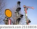 railway, railway crossing, street signs 25338036