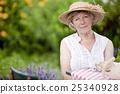 garden, smiling, woman 25340928