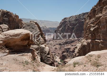 Petra ruins mountain road rocky mountain 25359584