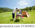 Family of family campground to do barbecue 25360803