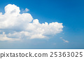 White cumulus clouds in deep blue sky 25363025