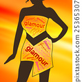 Glamour Clothes Represents Clothing Glamorous  25365307