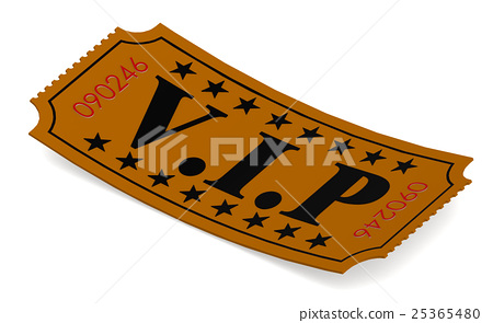 Stock Illustration: Isolated ticket with VIP word