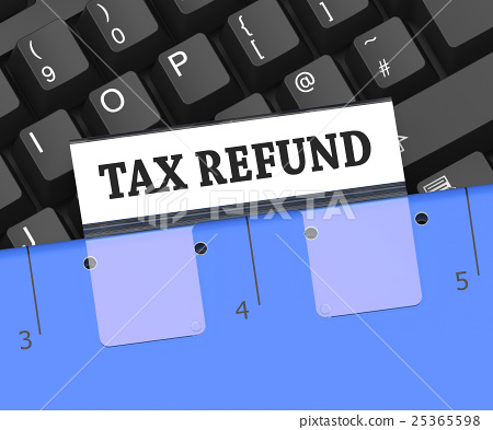 Tax Refund Means Taxes Returned 3d Rendering 25365598