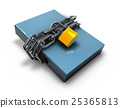 folder locked by chains isolated over white. 25365813