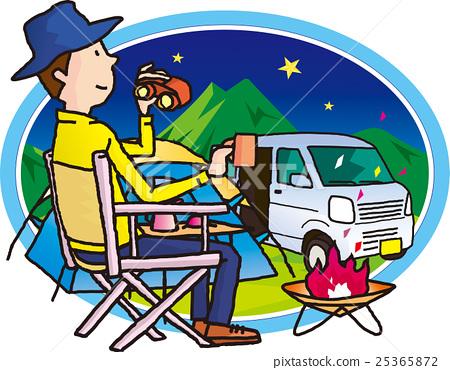 營地 露營 篝火 25365872