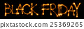 Sparkling inscription of Black Friday on a black 25369265