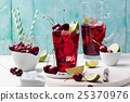 Cherry cola, limeade, lemonade, cocktail in glass 25370976