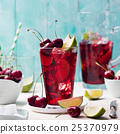 Cherry cola, limeade, lemonade, cocktail in glass 25370979
