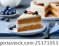 Vegan, carrot cake. Healthy food. Selective focus 25371053