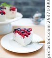 Cheesecake, cream mousse cake with fresh berries 25371090