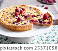 Raspberry, blueberry and white chocolate tart 25371096