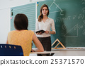 Teacher or docent or educator giving while lesson 25371570