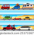 Cars parked on the road 25373367
