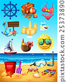 Ocean scene and beach objects 25373890