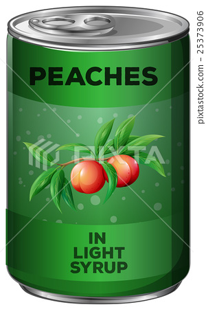 Peaches in green can 25373906
