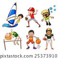 Sticker set with people doing sports 25373910
