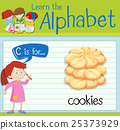 Flashcard letter C is for cookies 25373929