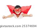 superhero kid flying isolated on white background 25374694