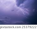 Lightning strike on the dark cloudy sky 25379222