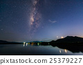 Milky way over reservoir with mountain night 25379227