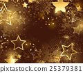 brown background with golden stars 25379381