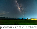 Milky way galaxy with stars in the Green Terraced 25379479