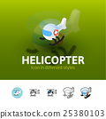 helicopter, icon, illustration 25380103