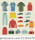 Set of Fashion men clothes and accessories icons 25383470