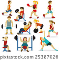 People at the gym(various sports activities) 25387026
