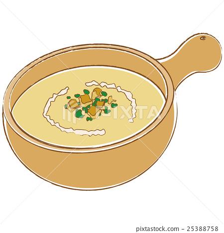 插圖素材: 濃湯 湯 一杯ta