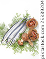 秋之美食 針魚 松茸蘑菇 25389204