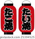 takoyaki, paper, lantern 25394525