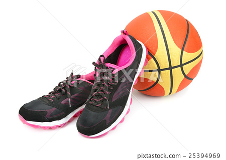 sports sneakers and basketball isolated 25394969