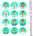 Doctors and medical workers flat simple avatars 25395997