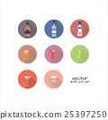 Vector set of alcoholic and nonalcoholic drinks 25397250