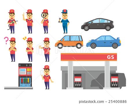 gas station, set, sets 25400886