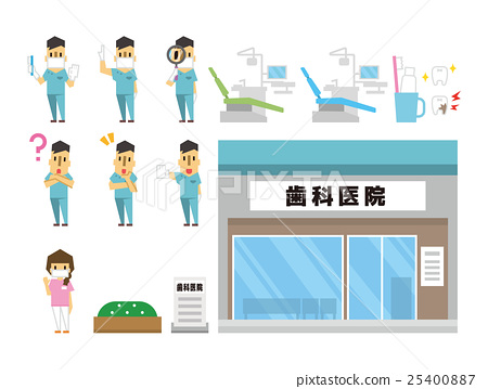 Stock Illustration: dentist, sets, set