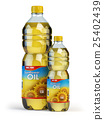 Sunflower or vegetable oil in plastic bottles 25402439
