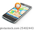 Mobile GPS navigation travel concept.  25402443