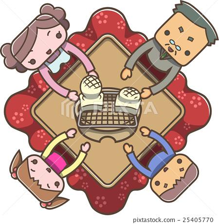 kotatsu, family, mochi 25405770