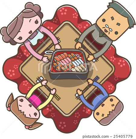 kotatsu, winter, family 25405779
