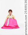 Asian Three Generation Family in Hanbok, Korean Traditional Clothes 25409136